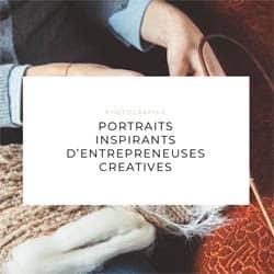 Page d'acceuil du site Entrepreneuses créatives
