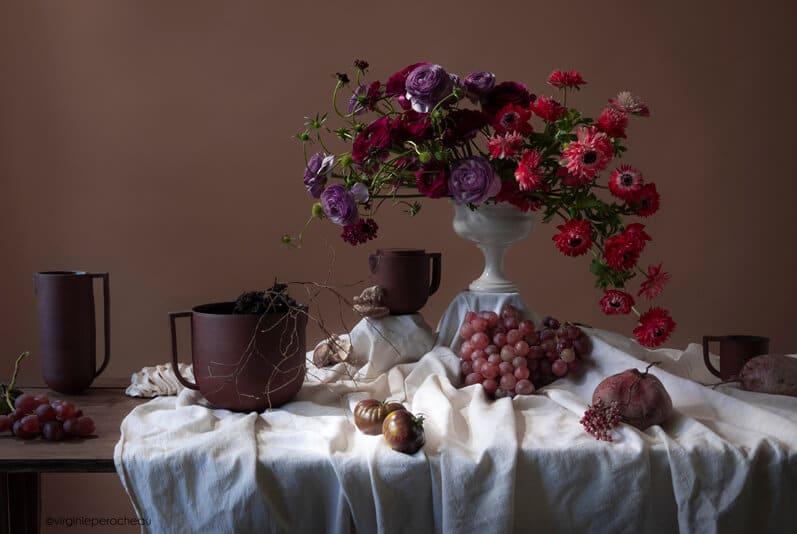 Articles de vaisselle artisanale en céramique rouge