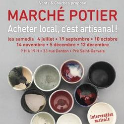 Affiche du marché de potier au Pré St-Gervais