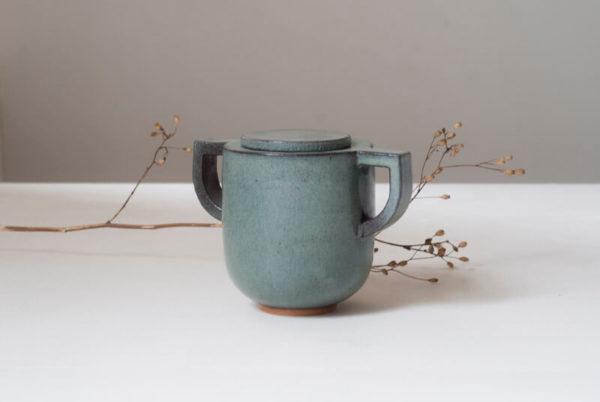 Sucrier gris en céramique