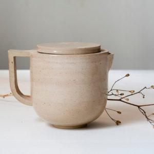 Théière individuelle beige en céramique