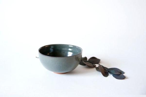Bol gris en céramique